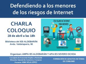 CONFERENCIA PELIGROS DE INTERNET 28-4